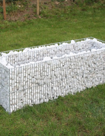 Oblutak Pravougaona Žardinjera H40 od toplo pocinkovane žice za enterijer i dvorište
